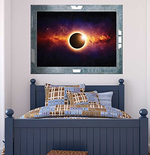 Science Fiction ViewPort Decal View of an Eclipse Wall Mural