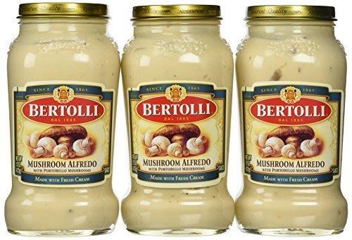 Bertolli Mushroom Alfredo Sauce, 15 Oz., (Pack of 3) by Bertolli