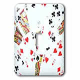 3dRose lsp_112895_1 Playing Cards Photography Deck of Cards Photo Gift for Poker Bridge and Other Card Game Players Single Toggle Switch