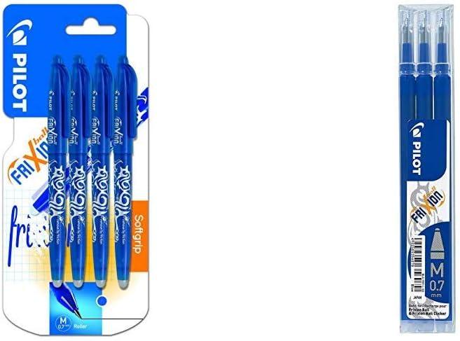3 Pens Pilot Friction Ball Pens Blue Business, Office & Industrial ...