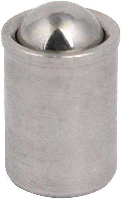5pcs 9mmx8mm corp acier Inox 303 11,7N fin vigueur poussoir ressort bille