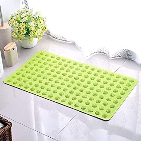 Bath Mats - Modern Green Rubber Bath Mats Bathroom Carpet ...
