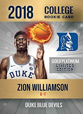 Amazoncom 2018 Zion Williamson Fire Ball First Rookie Card Duke