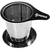 Ipow Mesh Tea Strainer with Lid and Handle, Stainless Steel