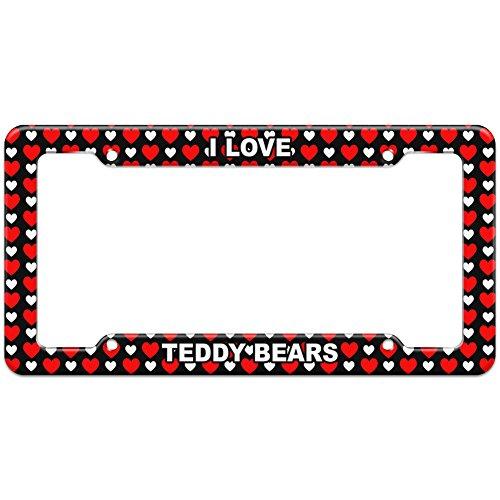 Hearts License Plate Frame I Love Sports Hobbies St-Tu - Teddy Bears