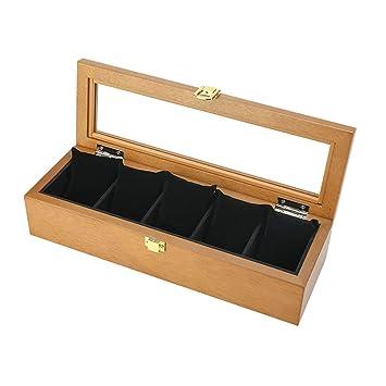 GJ-bsn - Caja de Madera para Relojes, Expositor/Cajas para Joyas,