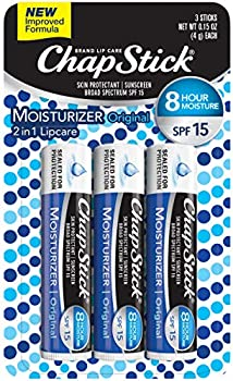 3 Pack ChapStick SPF 12 Lip Moisturizer and Skin Protectant
