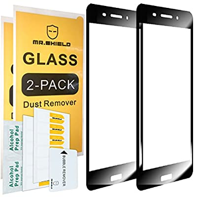 [2-PACK]-Mr Shield For Nokia 6 [Tempered Glass] [Full Cover] Screen Protector with Lifetime Replacement Warranty by Mr Shield