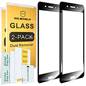 [2-PACK]-Mr Shield For Nokia 6 [Tempered Glass] [FullCover] [Black] Screen Protector with Lifetime Replacement Warranty