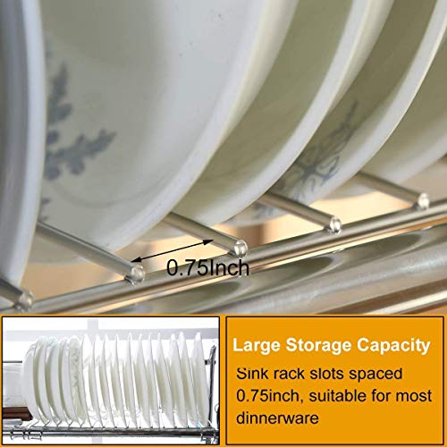 1208S 2-Tier Stainless Steel Dish Drying Holder Rack (Double Groove-Two-layer) by 1208S (Image #3)