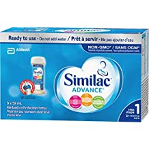 Similac advance step 1 omega-3 and omega-6 non-gmo ready to feed 8x59ml