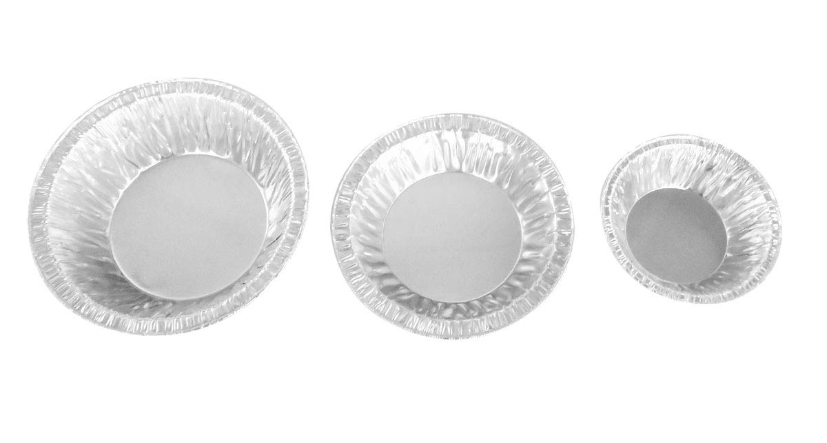 Safca Disposable Aluminum Tart Pan/Mini Pie Pan Variety Pack- 3'' Tart Pans-4.5'' Tart Pans- 5'' Tart Pans (100) by Safca