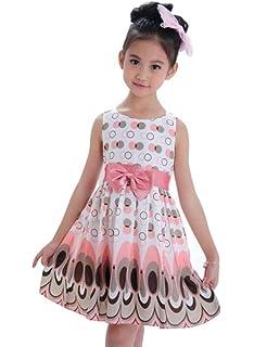 Amlaiworld Vestido de niña Vestido de pavo real sin mangas con forma de burbuja