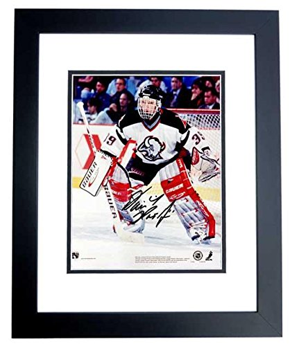Dominick Hasek Signed - Autographed Buffalo Sabres 8x10 inch Photo BLACK CUSTOM FRAME - Guaranteed to pass or JSA - PSA/DNA Certified (Sabres Photo Nhl Signed Buffalo)