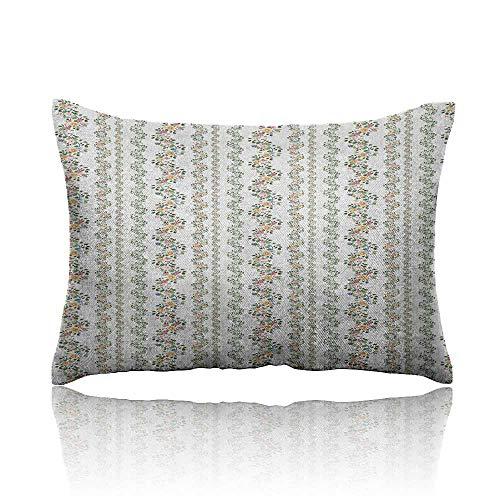 (Anyangeight Garden Art Pillowcase Botanical Flourishing Ivy Pattern with Fresh Vibrant Spring Leaves and Flowers Travel Pillowcase 16