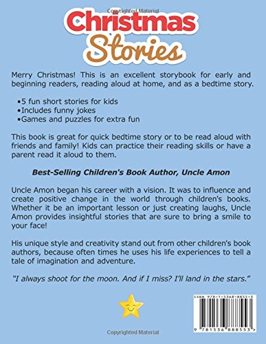 christmas stories fun short stories christmas jokes and more christmas books for children volume 9 uncle amon 9781536888553 amazoncom books