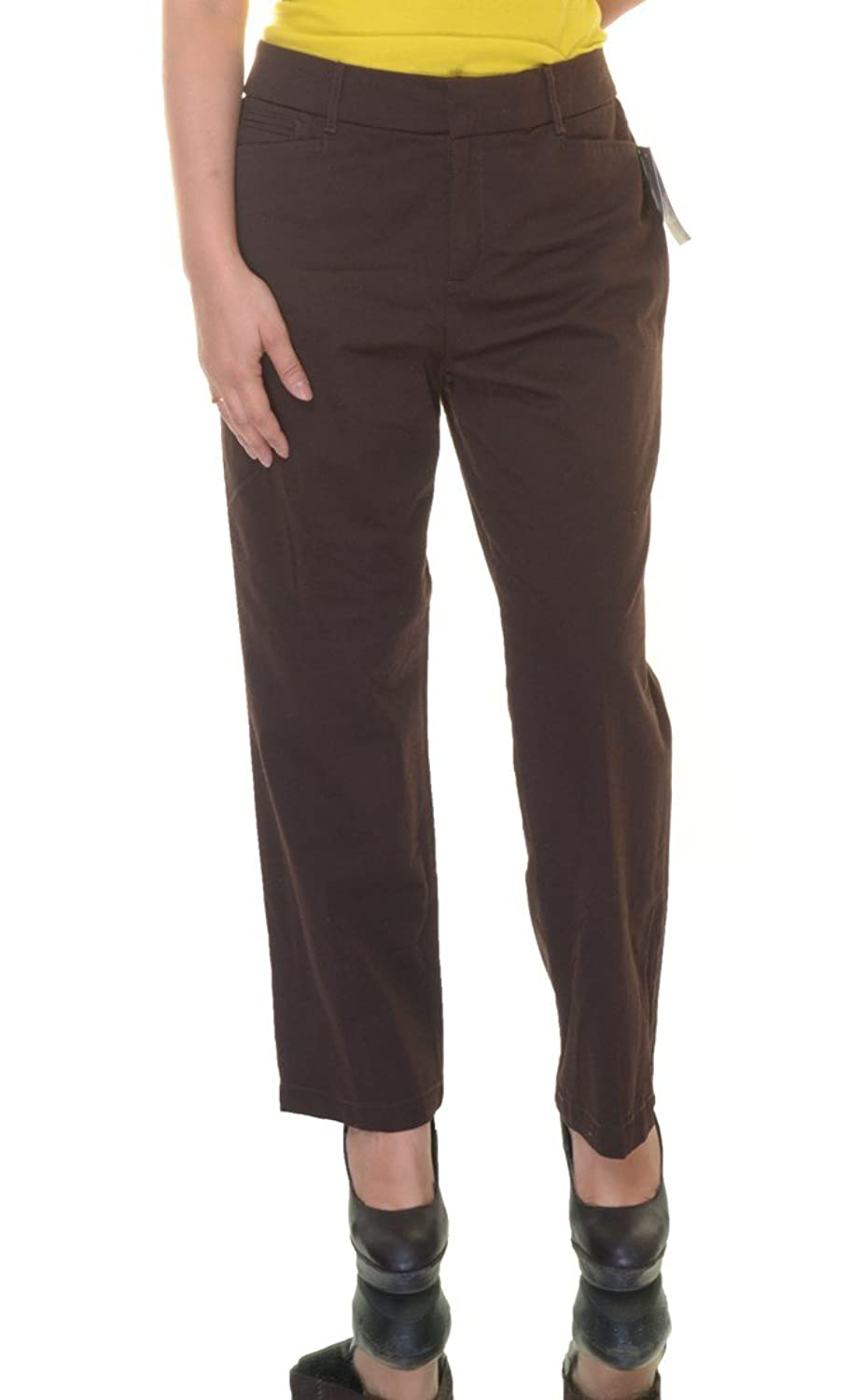 JM Collection Womens Petites Twill Slimming Casual Pants