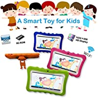 Nacome Childrens Tablet,7inch Quad Core HD Tablet for Kids Android 4.4 KitKat Dual Camera WiFi Bluetooth