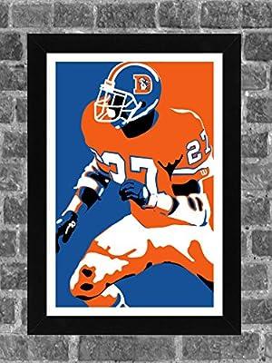 Denver Broncos Steve Atwater Portrait Sports Print Art 11x17