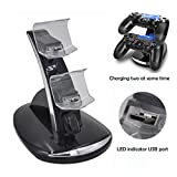 SKINOWN® PS4 Controller Charger Dock USB Charging Stand Station with LED indicator for Playstation 4 Controller