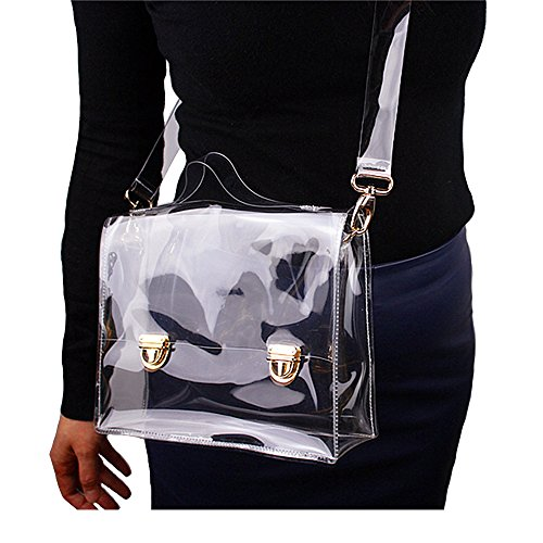 Cross Clear Stadium Messenger Handbag Shoulder NFL Bag Bag PVC Women's Transparent Approved Clear Satchel Body FHTEw6q
