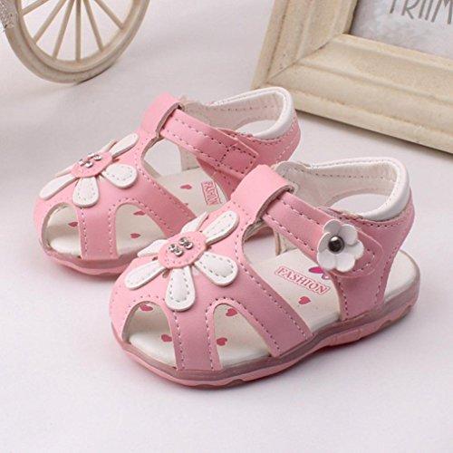 Babyschuhe,Amlaiworld Kleinkind neue Sonnenblumen Mädchen Sandalen beleuchtet Prinzessin Schuhe mit weichen Sohlen Rosa