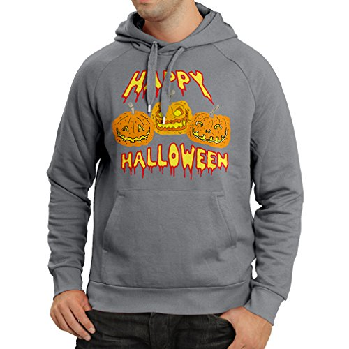 Hoodie Happy Halloween! Party Outfits & Costume - Gift Idea (XX-Large Graphite Multi Color)