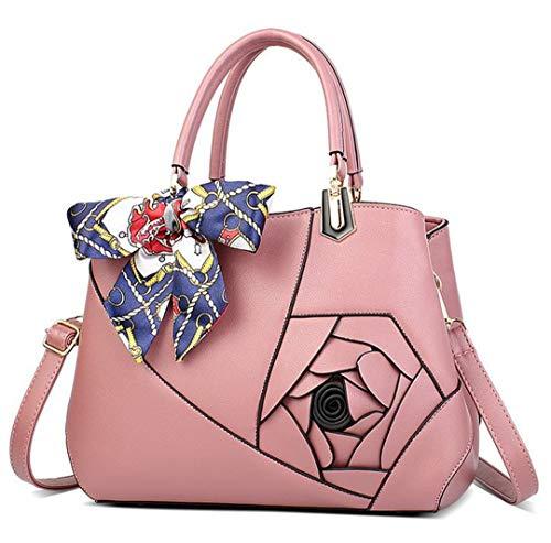 D'épaule Cuir De À Dames Luxe Patchwork Pink Fleurs Sacs Femmes Sacs Messenger Sac Mère En Main Tx7BRE