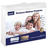 ZAMAT Premium 100% Waterproof Mattress Protector, Breathable & Noiseless Mattress Pad Cover, Fitted...