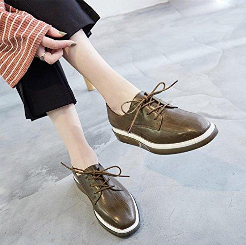 ascensore crosta CN38 pizzo spessa EU38 i primavera 5 scarpe Ms UK5 studenti 5 sceglie scarpe focaccina scarpe US7 pattini HwqAHd