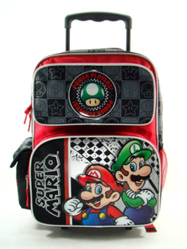 Large Rolling Backpack Nintendo Players