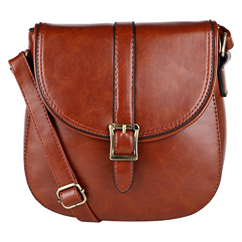 BAG LINO WOMEN'S LINO SLING BROWN PERROS PERROS LEATHER aq0wp0Z5