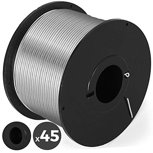 Mophorn 45 Rolls Rebar Tie Wire Coil For Automatic Rebar Tying Machine Automatic Steel Bar Rod Tying Tools (45 Rolls Coil)
