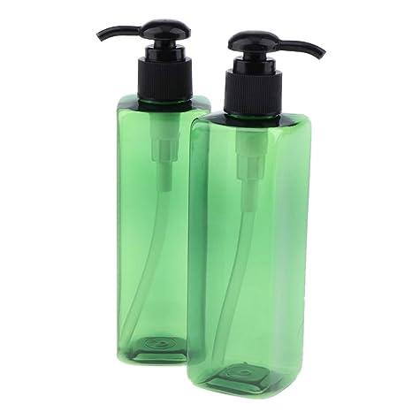 B Blesiya 4 Unids 250ml Botella de Bomba Tubo de Spary Envase de Crema Estuche de