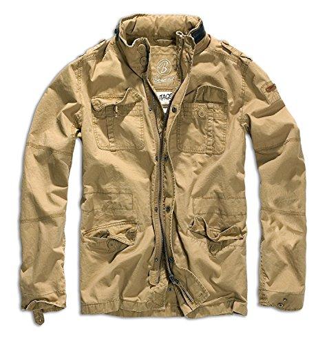 Brandit Men's Britannia Vintage Military M65 Style Short Army Lightweight Jacket Small Sand