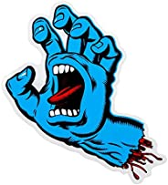 Santa Cruz Screaming Hand Gel pour entretien Skateboard Autocollant Jim Phillips-Bleu - 8 cm-Neuf