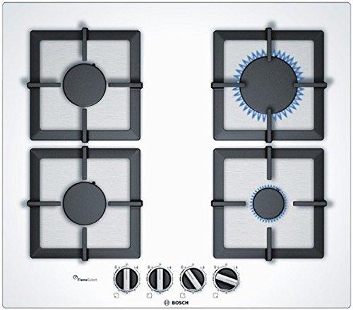 Bosch - Piano cottura a gas PPP6A2B20O in vetro bianco da 60cm ...
