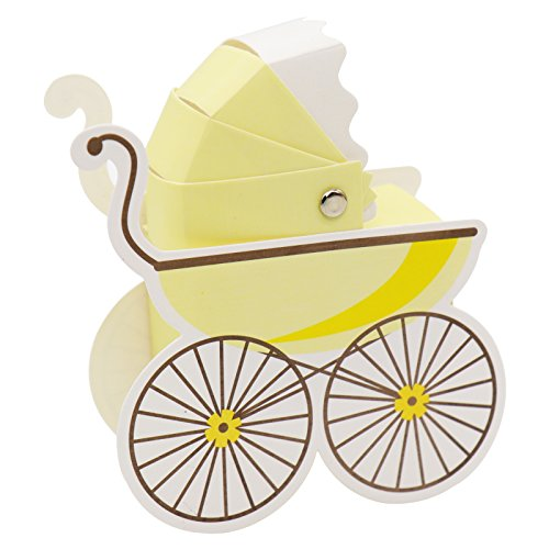 BITFLY 50pcs Paper Candy Box Stroller Shape Baby Shower boy