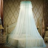 Lustar Court Style Mosquito Net Bed Canopy For Children Fly Insect Protection Indoor Decorative Height 270cm Top Diameter 50cm For 1.2-2m Bed,Green