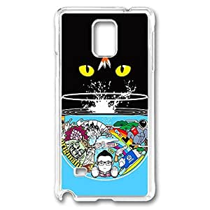 Cat Eyes Polycarbonate Hard Case Cover for samsung note 4 Transparent by Maris's Diaryby Maris's Diary