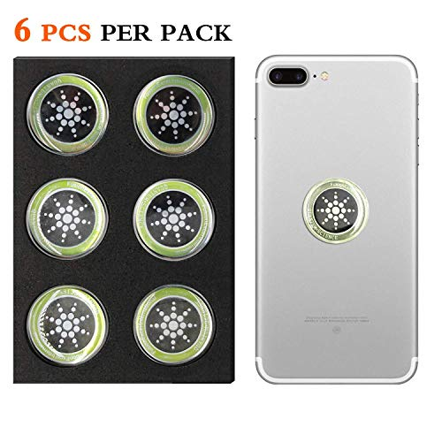 Cell Phone Radiation Protector Shield Sticker-The Best EMR/EMF Neutralizer for Cell Phone,Mobile Phone, iPhone, iPad (Silver 6pcs)