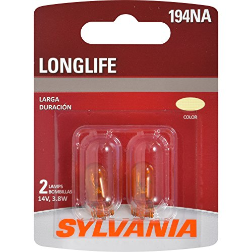 (SYLVANIA - 194NA Long Life Miniature - Amber Bulb, Ideal for Parking, Side Marker and More. (Contains 2 Bulbs))