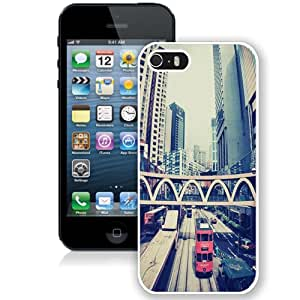 Beautiful Unique Designed iPhone 5S Phone Case With London Architecture Buildings_White Phone Case