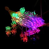 Ouniman Batteries Square Ice Shape Light String for Easter Halloween Party Festival Christmas Decoration Bedroom Garden Yard Outdoor Fairy Wedding - Multicolor