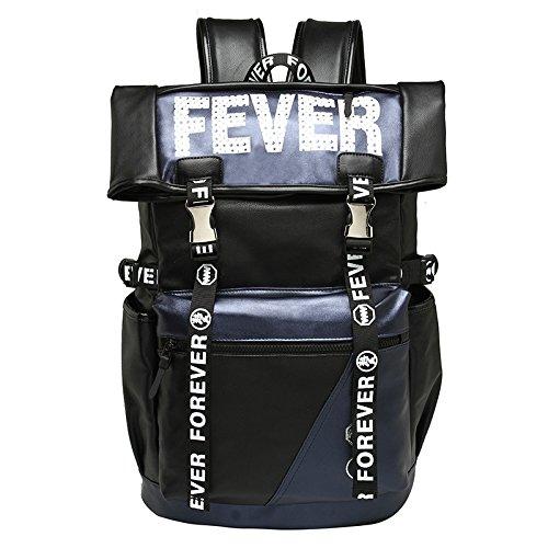 CLCOOL Bergsteigen-TascheRucksack OUTDOOR REISEN WANDERN PU Wasserdicht Bergsteigen Klettern Camping Unisex Taschen , Schwarz mit Blau