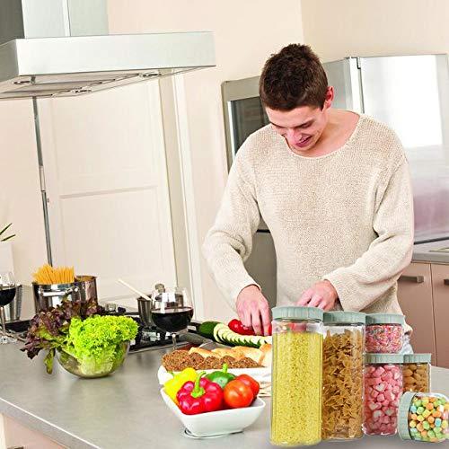 Caff/è Riso Set di 6 Contenitori per la Conservazione degli Alimenti con Coperchi per la Conservazione per T/è Contenitori per Alimenti Fatto da Fibra di Grano Verde Pasta con Airtight Coperchi