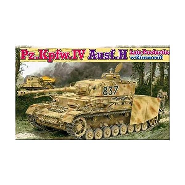 Dragon 1/35 PzKpfw IV Ausf H Late Production Tank w/Zimmerit Kit 1