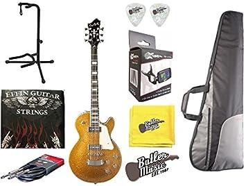 Hagstrom suswecu-chs champán Sparkle guitarra eléctrica w/funda bolsa Plus más: Amazon.es: Instrumentos musicales