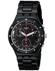 Swatch Unisex YCB4019AG Aluminum Black Dial Watch