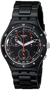 Swatch YCB4019AG - Reloj cronógrafo de cuarzo para mujer con correa de acero inoxidable, color negro